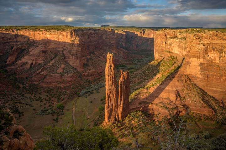 Spider Rock overlook Canyon de Chelly National Monument Arizona