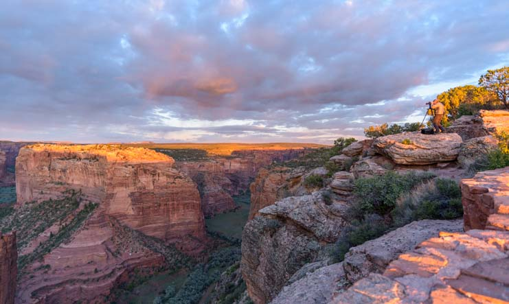 Sunset at Spider overlook Canyon de Chelly National Monument Arizona