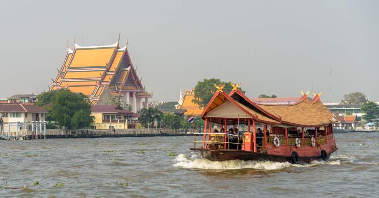 Chao Phraya River cruise Bangkok Thailand
