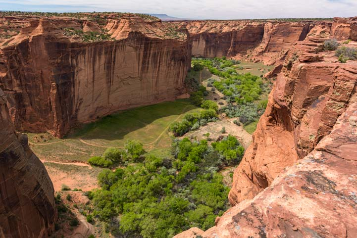 Valley at Sliding House Ruin Overlook Canyon de Chelly National Monument Arizona