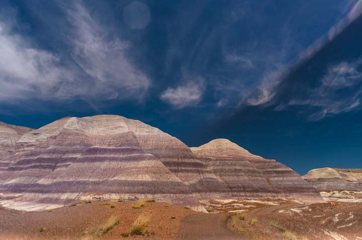 Blue skies on the Blue Mesa Trail Petrified Forest National Park Arizona