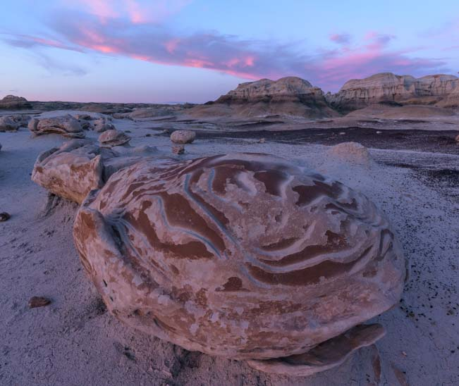 Exotic egg Bisti De-Na-Zin Wilderness New Mexico