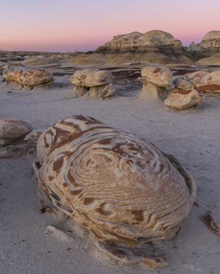 Decorated egg Bisti De-Na-Zin Wilderness New Mexico