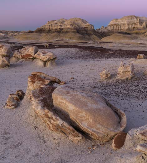 Egg in shell Bisti De-Na-Zin Wilderness New Mexico