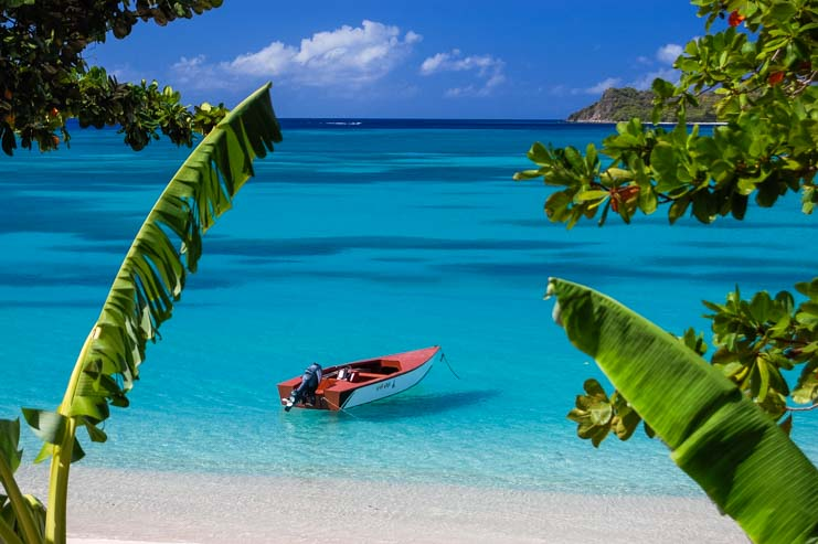 Carriacou in the Grenadines eastern Caribbean