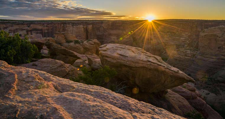 Sunrise Sliding House Ruin Overlook Canyon de Chelly National Monument Arizona