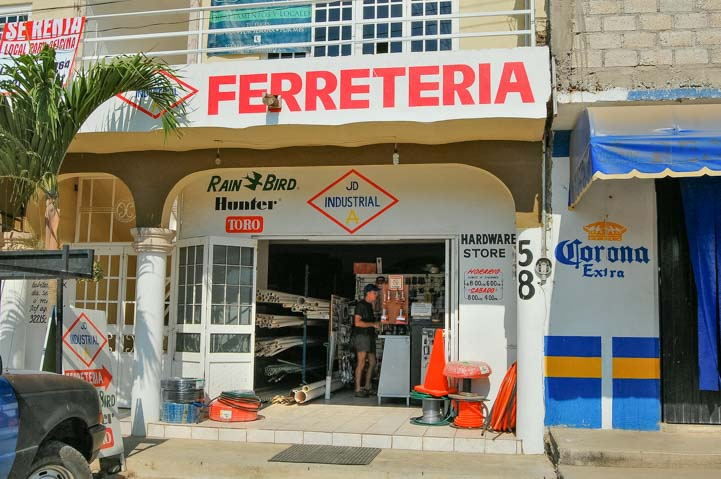 Hardware store ferreteria in Mexico