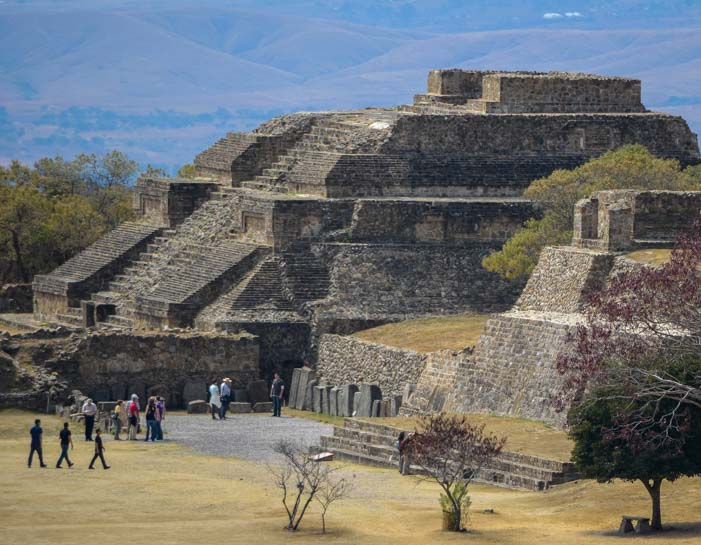 Monte Alban temple ancient Zapotec ruins Oaxaca Mexico