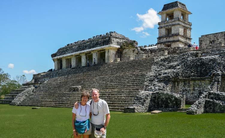 Palenque ancient Mayan ruins Chiapas Mexico