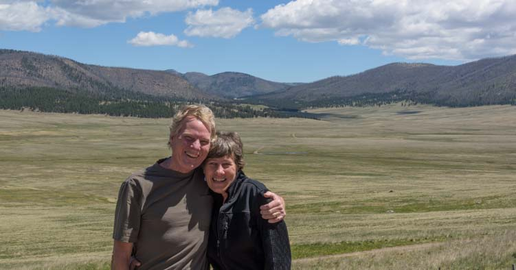 Selfie at Valles Caldera National Preserve New Mexico overlook