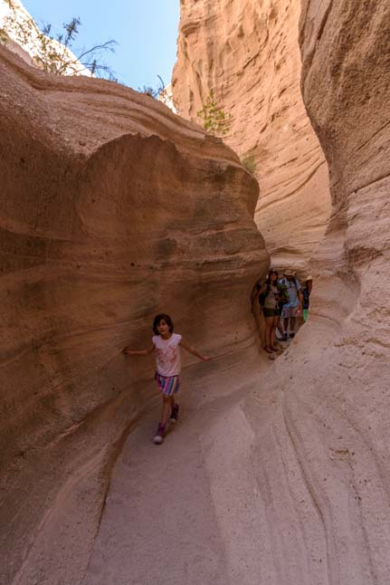 Crowded Slot Canyon Tent Rocks National Monument New Mexico