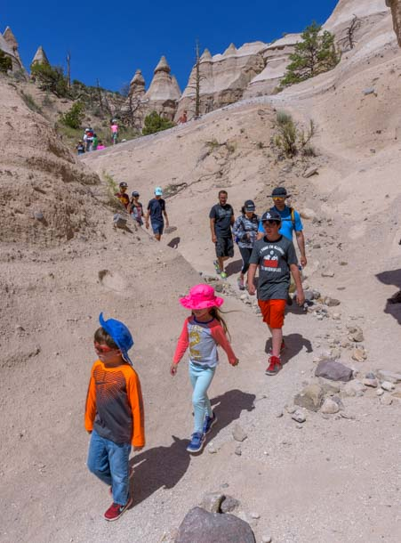 Busy hiking trail Tent Rocks National Monument New Mexico