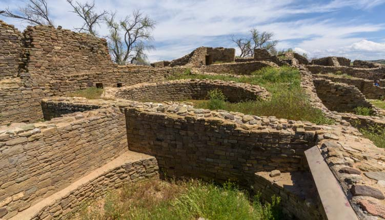 Walls at Aztec Ruins National Monument New Mexico