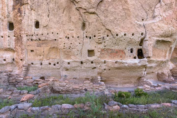 Pueblo ruins Long House Bandelier National Monument New Mexico