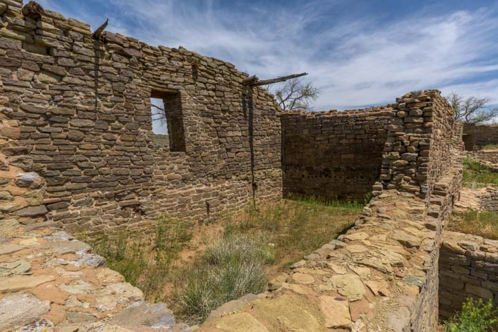 Window and room at Aztec Ruins National Monument New Mexico