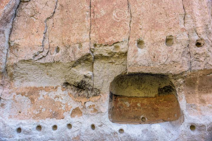 Pueblo architecture Long House Bandelier National Monument New Mexico