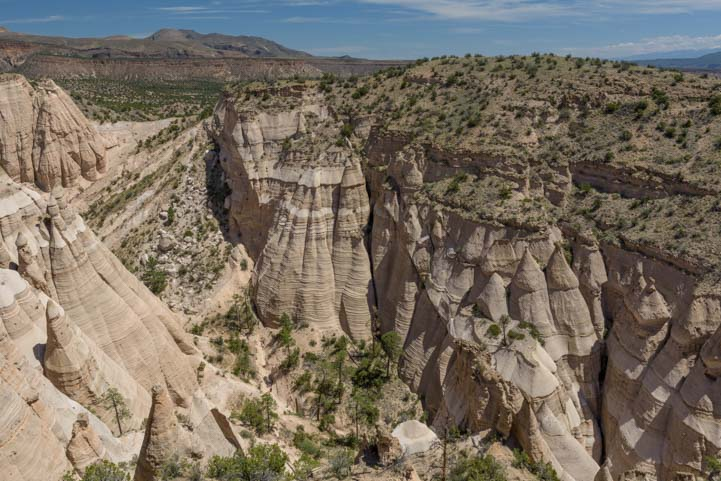 View from the top Tent Rocks National Monument New Mexico