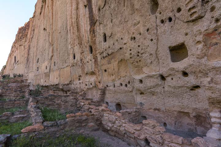 Ancestral Pueblo ruins Long House Bandelier National Monument New Mexico