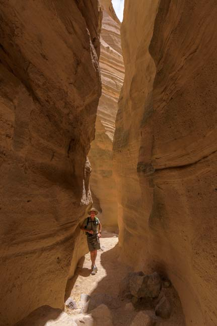Skinny slot canyon hike Tent Rocks National Monument New Mexico