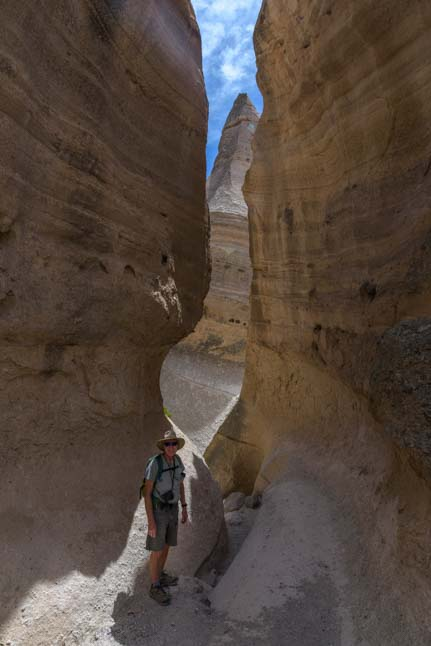 Hike the slot canyon at Tent Rocks National Monument New Mexico