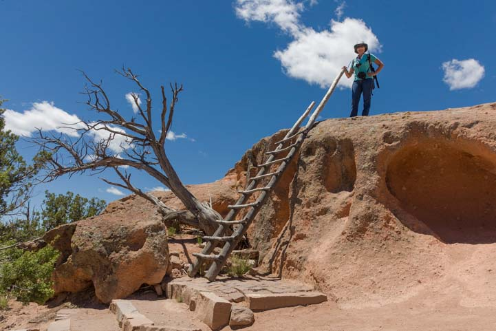 Tsankawai hike Bandelier National Monument New Mexico