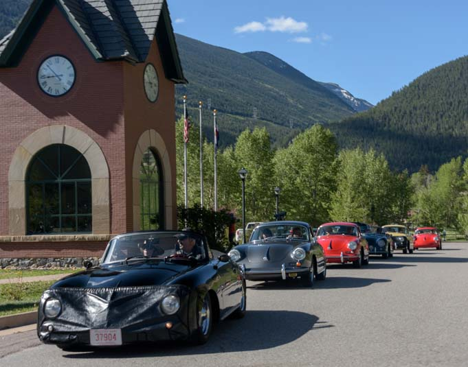 Porsche rally in Georgetown Colorado