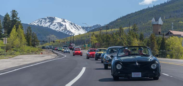 Rocky Mountain 356 Porsche rally in Colorado