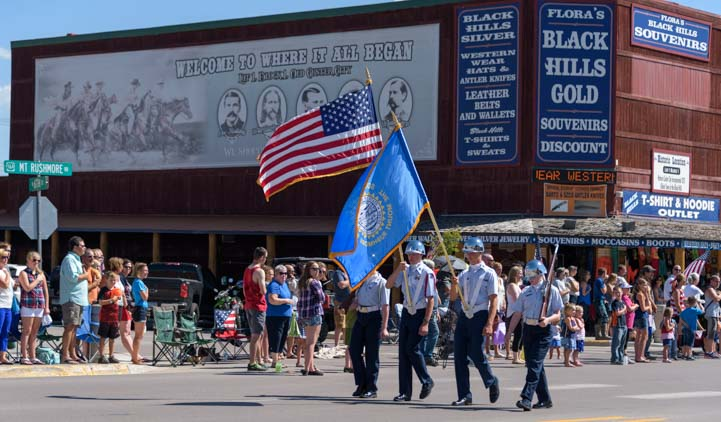 Flag bearers 4th of July Custer South Dakota