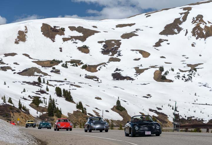 Scenic drive Rocky Mountain Porsche 356 Rally in Colorado