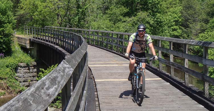 Biking the New River Trail Galax Virginia RV Trip