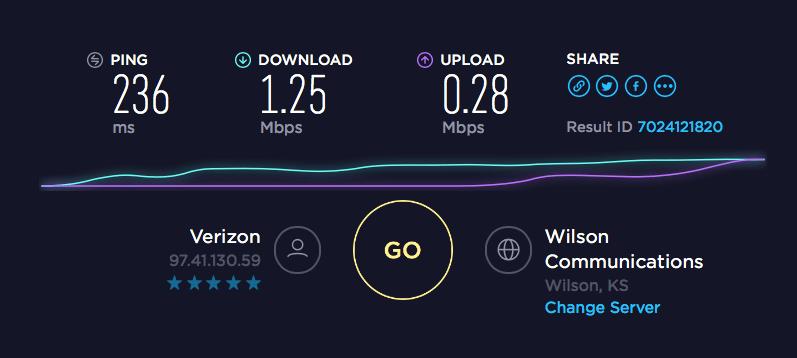 Speedtest 3 Weboost Mark on Roof-min