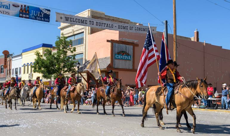 Longmire Days Parade Buffalo Wyoming Home of Longmire