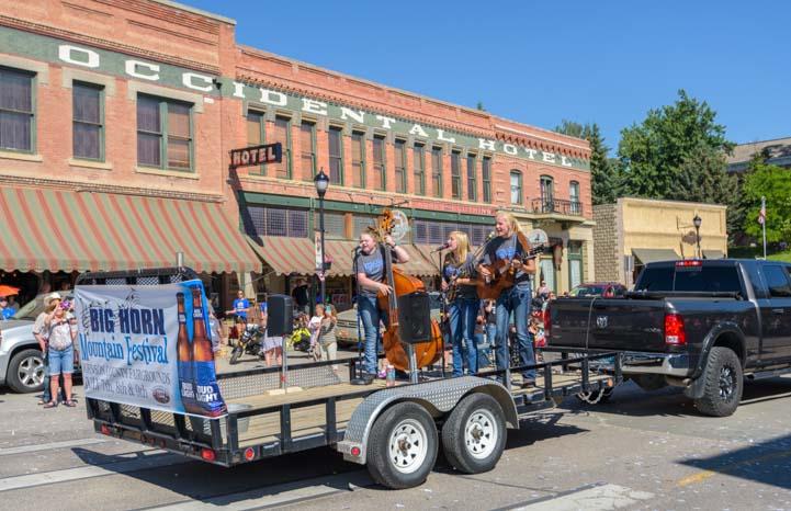 Longmire Days Parade Occidental Hotel Buffalo Wyoming