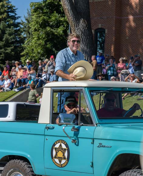 Sheriff Walt Longmire in parade at Buffalo Wyoming
