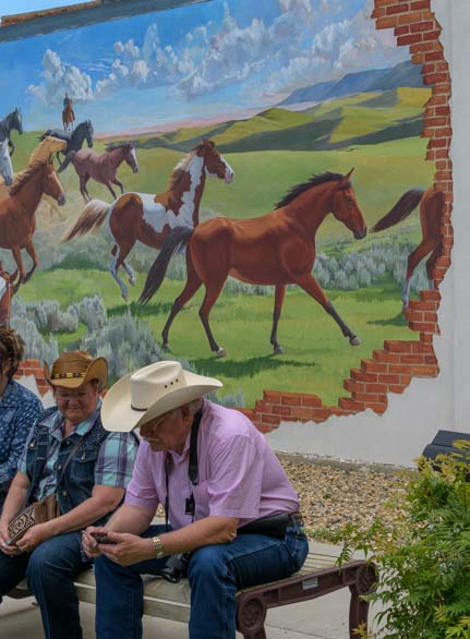 Horse mural and cowboy Buffalo Wyoming