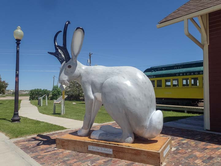 Douglas Wyoming Jackalope sculpture in city park