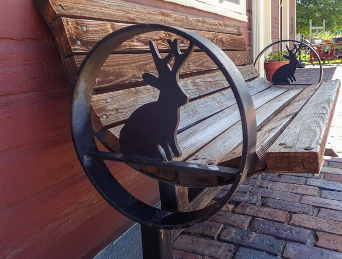 Jackalope park bench Douglas Wyoming