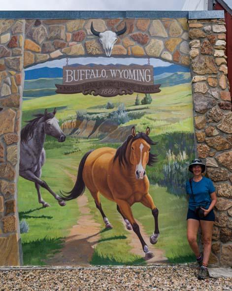 Horse mural Aaron Wuerker and Jenny Wuerker Buffalo Wyoming