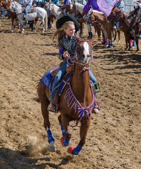 Rodeo queen Johnson County Fairgrounds Buffalo Wyoming