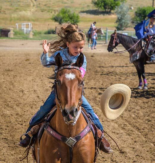 Rodeo Princess Hats Off Johnson County Fairgrounds Buffalo Wyoming