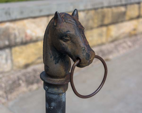 Horse head hitching post Newcastle Wyoming