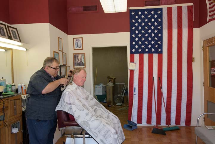 Haircut and straight blade razor shave in Newcastle Wyoming