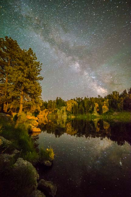 Milky Way at Stockade Lake Custer South Dakota