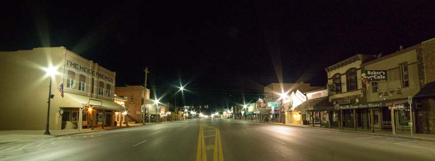 Custer South Dakota at night
