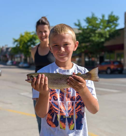 Proud kid with trophy fish Buffalo Wyoming