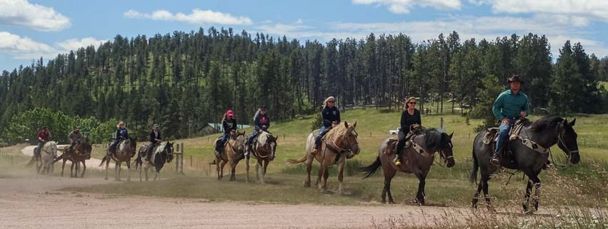 Horse riders Custer South Dakota