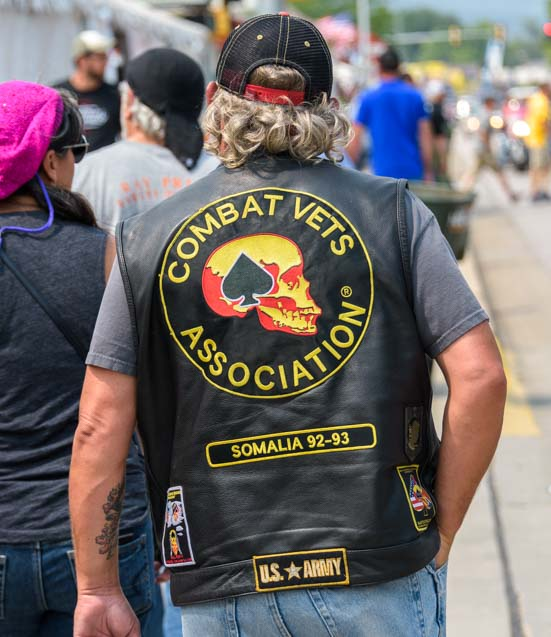 Combat vets vest Sturgis Motorcycle Rally South Dakota