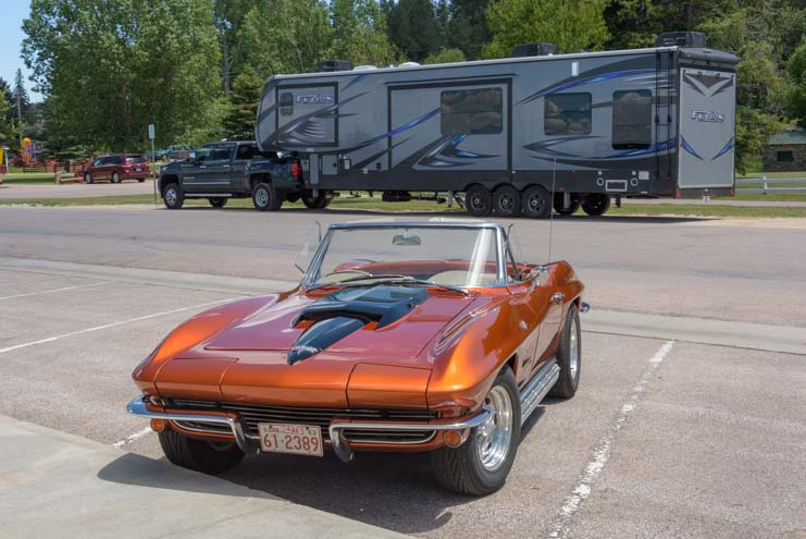 Corvette Stingray and RV Toyhauler Custer South Dakota
