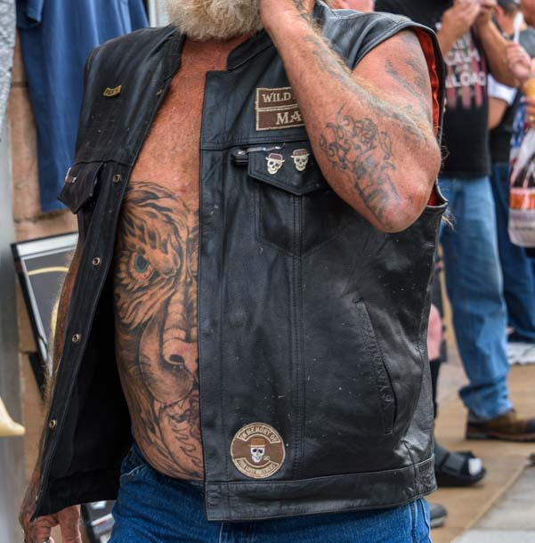 Belly tatoo artwork Sturgis Motorcycle Rally South Dakota