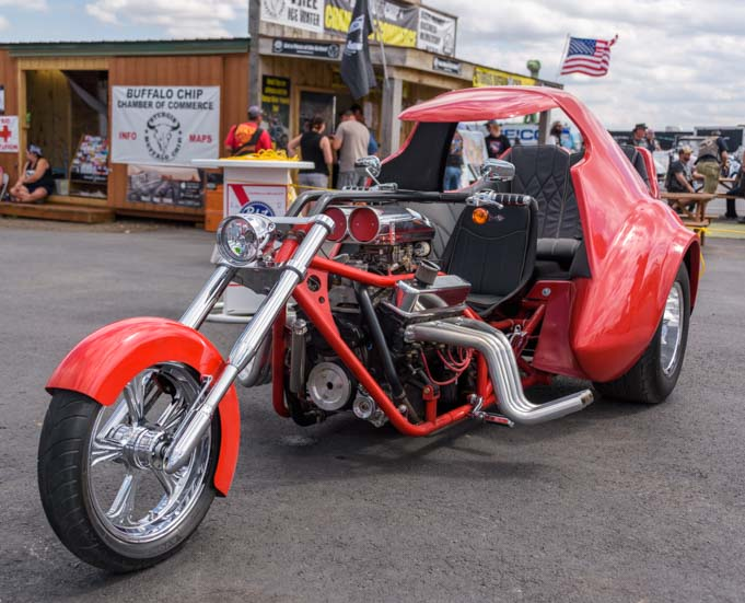 Corvette style motorcycle Sturgis Motorcycle Rally South Dakota